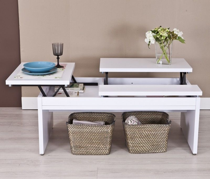 Elabora una incre ble mesa elevable de pallets con tus - Centro de mesa para salon ...